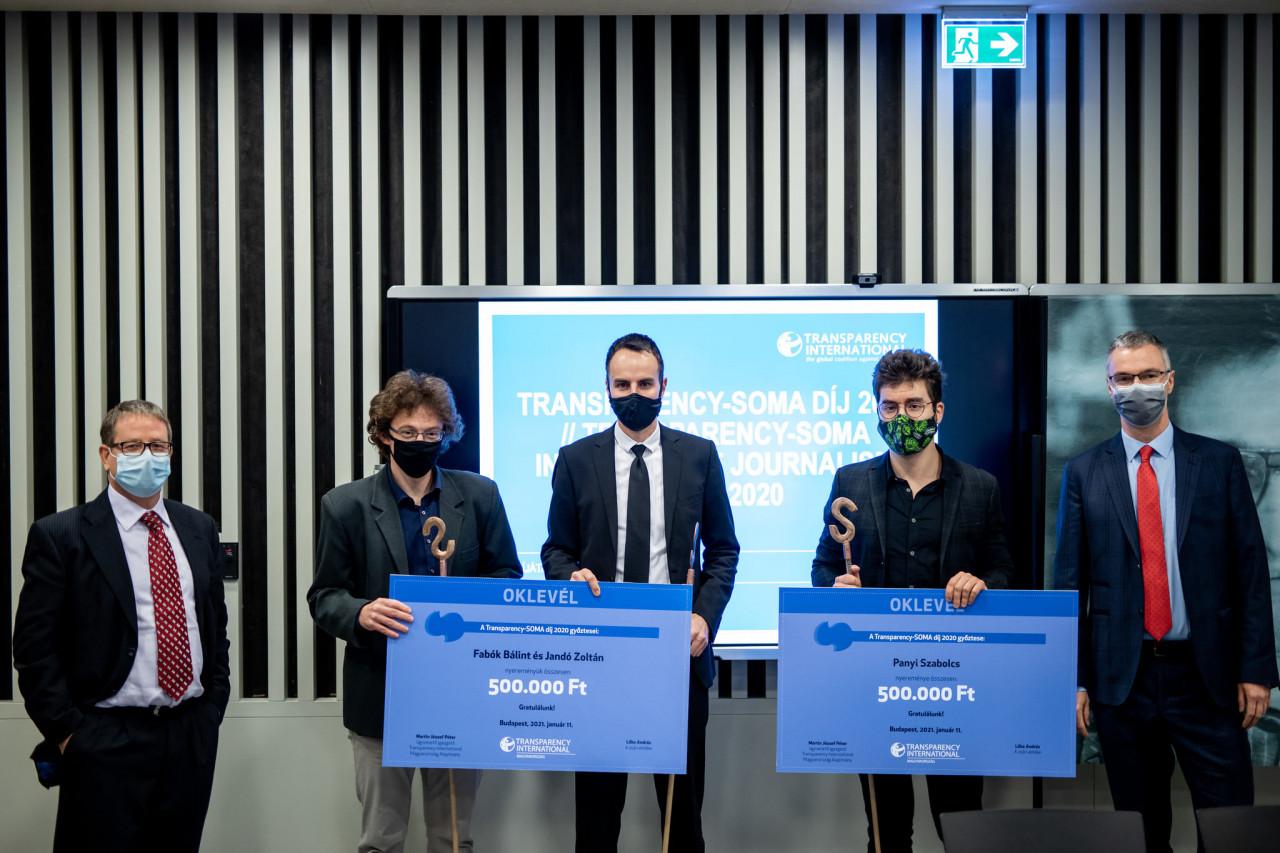 Átadták az idei Transparency-Soma díjat